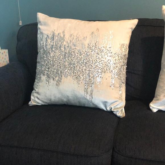 z gallerie silver joie de vivre 22 pillow
