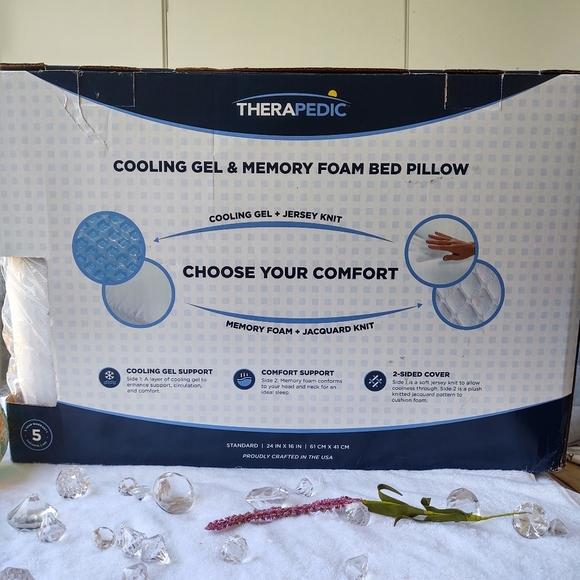therapedic cooling gel memory foam