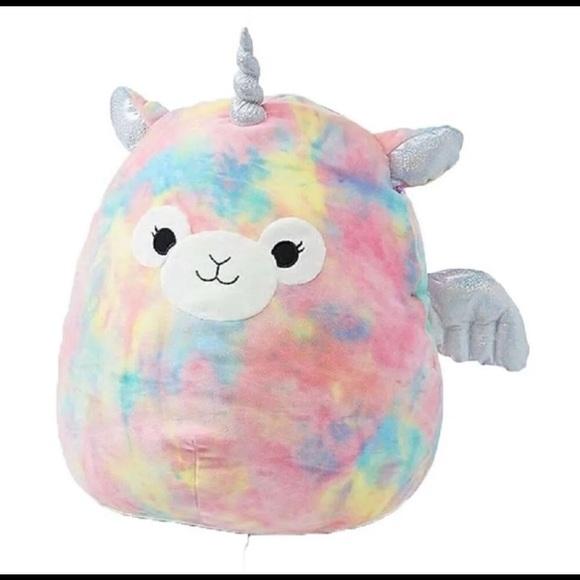 squishmallow bo llamacorn llama unicorn pillow toy