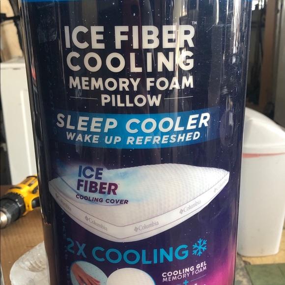 new columbia ice fiber cooling memory foam pillow
