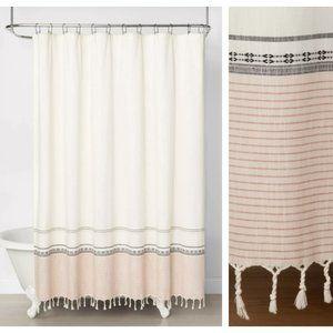 hearth hand stripe ombre border shower curtain