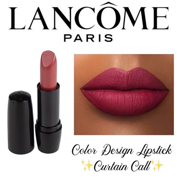 lancome color design lipstick curtain call cream