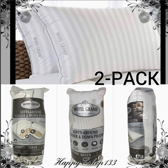 hotel grand feather down pillows queen 2 pack