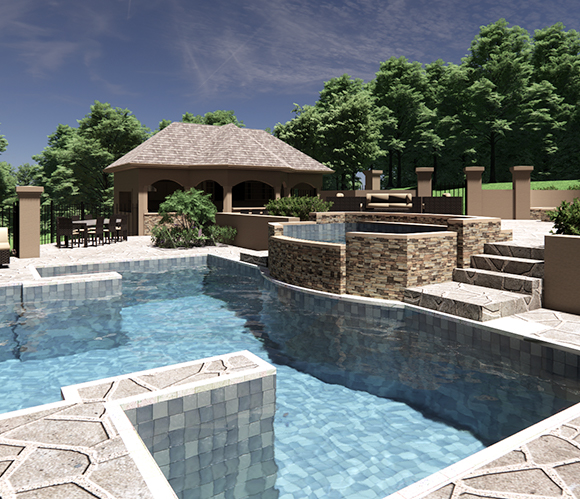Resort Style Pool and Bath House (1)