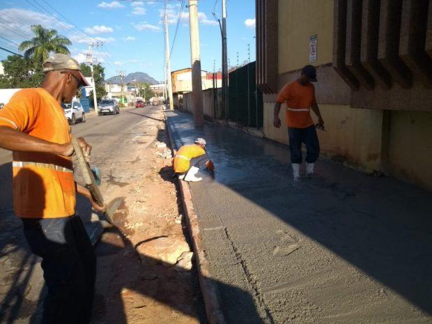 Desvio no trânsito da Rodovia do Valão para obras de pavimentação