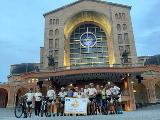 Ciclistas peregrinos  unem aventura e fé e percorrem 627 km de Cachoeiro a Aparecida
