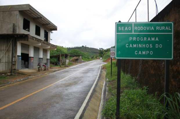 Caminhos do Campo inaugura estrada em Mimoso do Sul