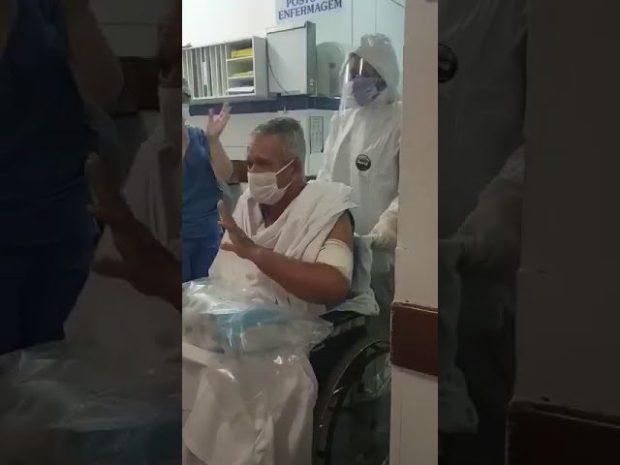 Paciente com coronavírus deixa UTI da Santa Casa Cachoeiro