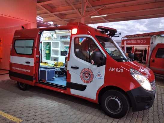 Bombeiros adquirem nova ambulância para atender 8 municípios do Caparaó