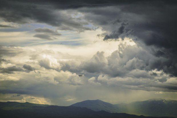 Sexta-feira com tempo nublado e chuva rápida na região Sul