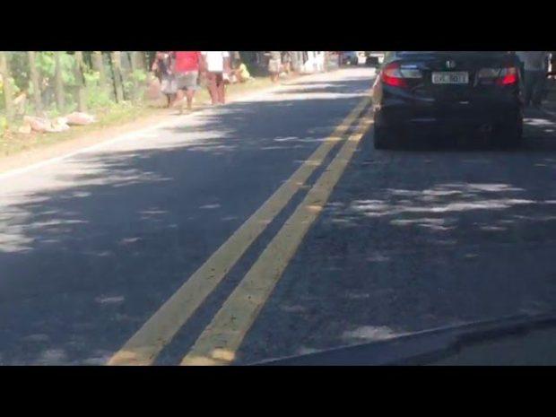 Caminhão com carga de frango tomba na Rodovia do Frade