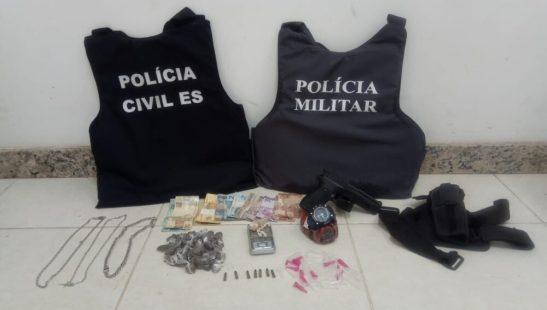 Suspeitos de assaltar taxista são presos em operação em Alegre