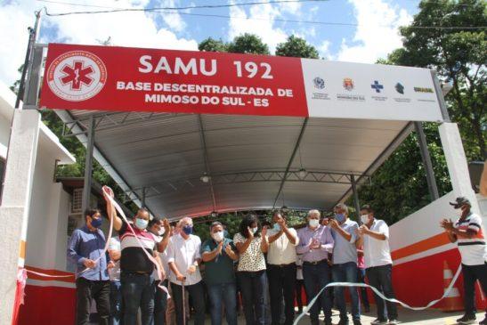 Vice-governadora Jaqueline Moraes inaugura base do Samu em Mimoso