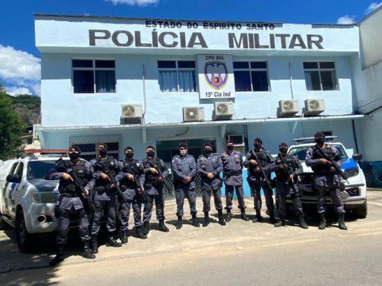 Força tática da PM é reativada em Mimoso do Sul, Muqui, Atílio Vivácqua e Apiacá
