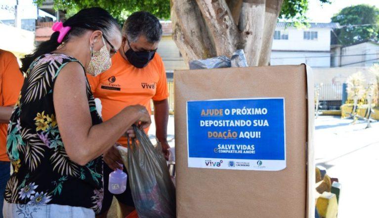 Ação solidária arrecada 600 kg de alimentos no bairro Baiminas