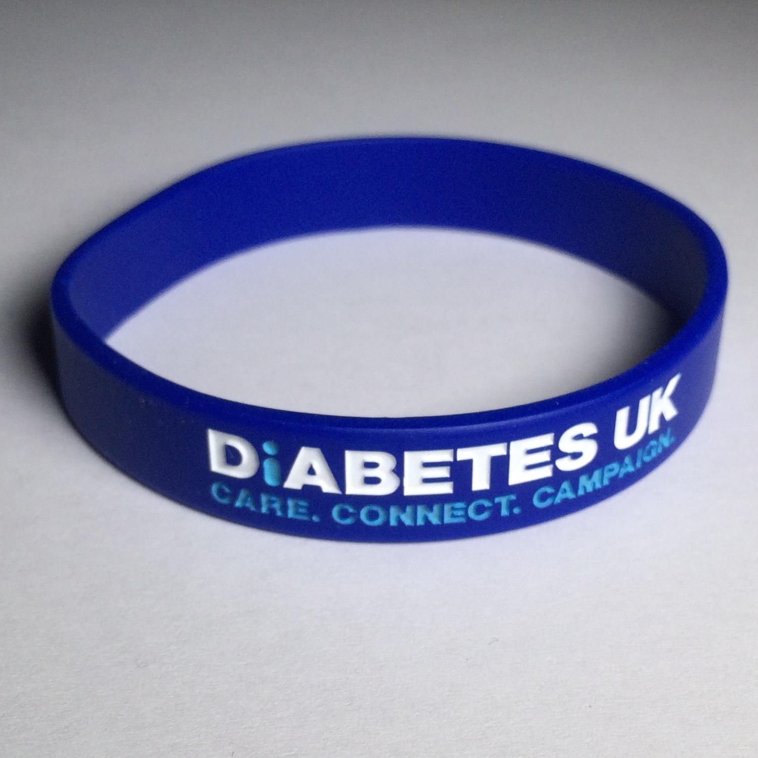 Diabetes UK supporter wristband.