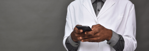 African doctor practicing telemedicine with a patient with diabetes. Diabetes Africa
