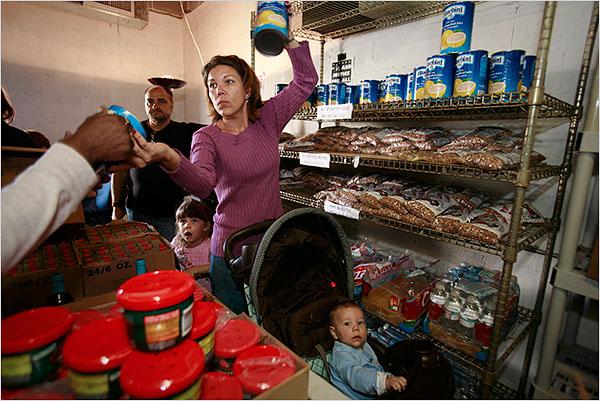 food-banks  Rebecca Muscarello, Arabi, LA saves food-stamps for fresh-food  www.nyt.com 11-11-08