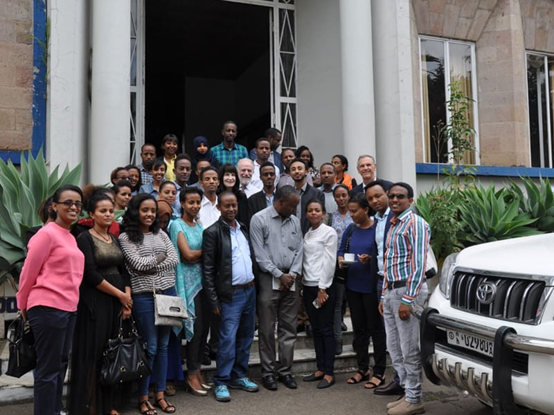 Group picture at Life for a Child workshop in Ethiopia
