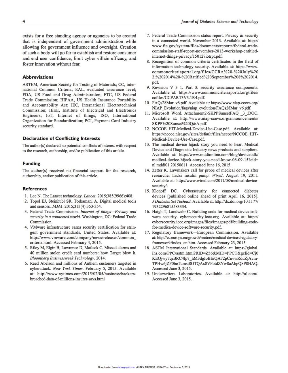 Medjacking J Diabetes Sci Technol-2015-Armstrong-1932296815602100