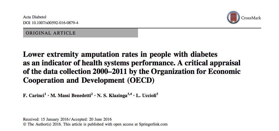 Amputation as a Measure of Health Systems Performance: Worldwide Data from the OECD
