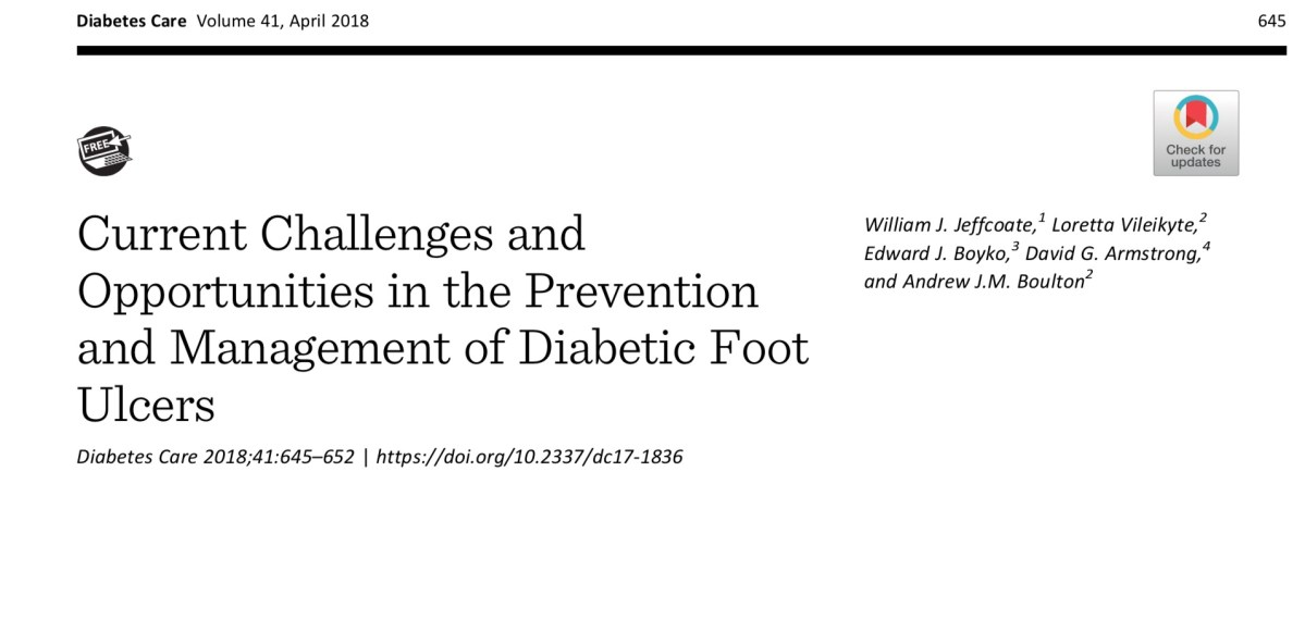 Current challenges and opportunities in the prevention and management of diabetic foot ulcers @ADA_Journals @USC @KeckMedUSC @USC_Research @APMA