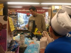 Photo of Steve Fanto buying supplies at the 