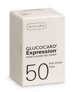ARKRAY GLUCOCARD EXPRESSION TEST STRIPS 50ct. AUTOSHIP