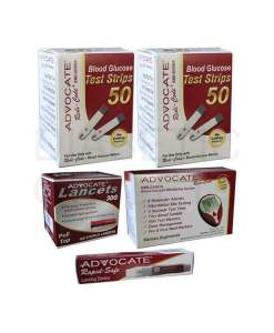 Advocate-redi-code-test-strips-+-non-speaking-meter-+-pull-top-lancets-+-red-dot-lancing-device