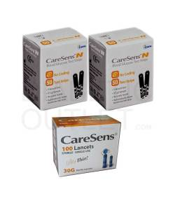 CareSens-N-test-strips-+-lancets