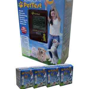Advocate-pettest-test-strips-4-boxes-and-Advocate-pettest-meter-kit
