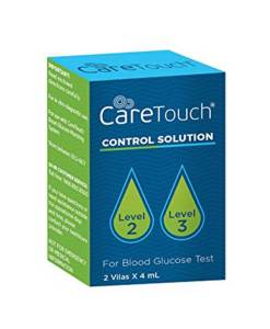 CARETOUCH BLOOD GLUCOSE CONTROL SOLUTION LEVEL2 & LEVEL3