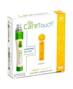 Caretouch-lancets-twist-top-100-count-30G-caretouch-lancing-device