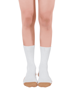 diabetic sock copper based classic white
