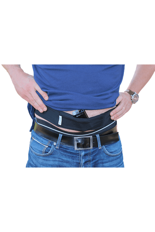 Glucology insulin pump belt black male