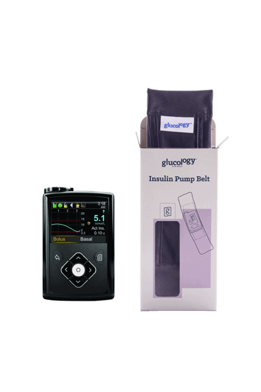 Glucology insulin pump belt black with pump