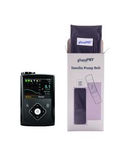 Glucology insulin pump belt black with pump