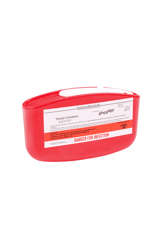 glucology sharps container