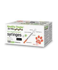 Healthy Tracks Pet Insulin syringe 31g 0.5cc