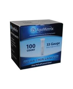 AGAMATRIX ULTRA-THIN LANCETS 100ct. 33G