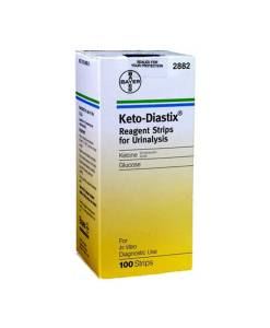 BAYER KETO-DIASTIX REAGENT TEST STRIP 100ct. FOR URINANALYSIS
