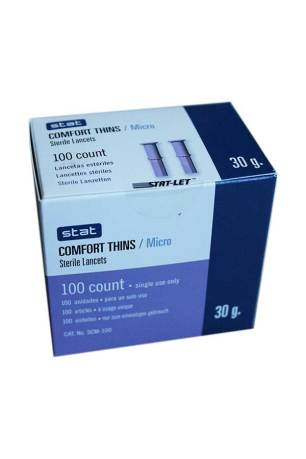 Stat-Comfort-Thins-PUll-off-lancets-100-30g