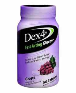 Dex4 Glucose Tablets 50 count Grape Flavor