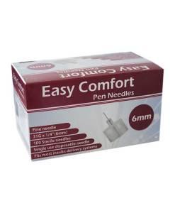 Easy-Comfort-Insulin-Pen-Needles-100-count-31g-1.4in-6mm