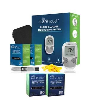 Caretouch-meter-kit-plus-100-caretouch-blood-glucose-test-strips