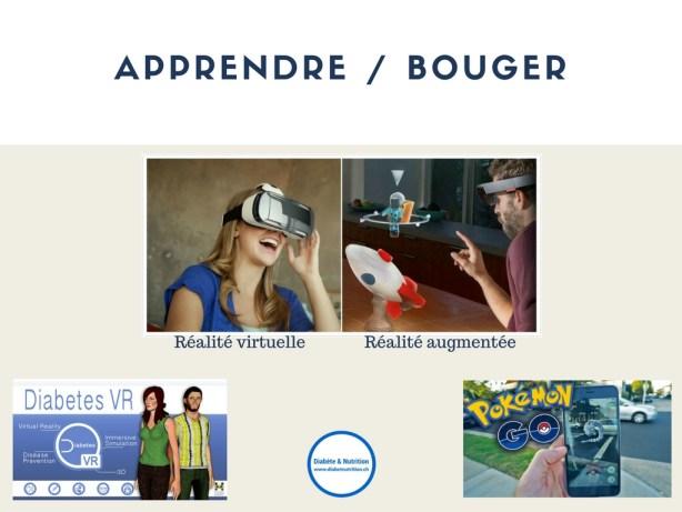 réalité virtuelle, réalité augmentée, technologie, outils, pédagogie, Pokemon Go, diabète