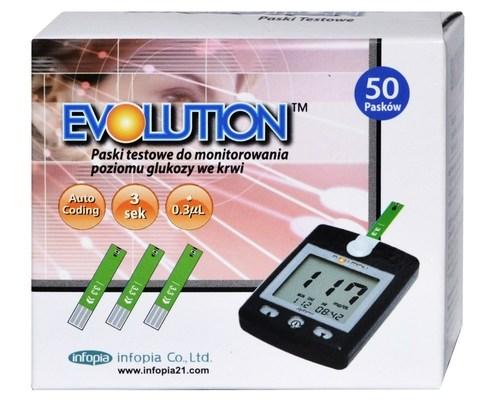 Opakowanie 50 Pasków testowych Evolution