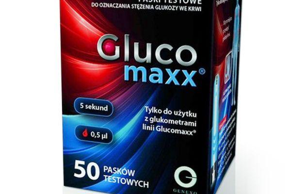 Opakowanie 50 Pasków testowych Glucomaxx