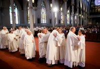 Ordination Mass of Permanent Deacons John Czajkowski, Paul Breadmore, Joseph Cooley, Charles Hanafin, John Kobrenski, and John Koza, celebrated by Cardinal Seán P. O'Malley Oct. 15, 2015 at the Cathedral of the Holy Cross. Pilot photo/ Gregory L. Tracy