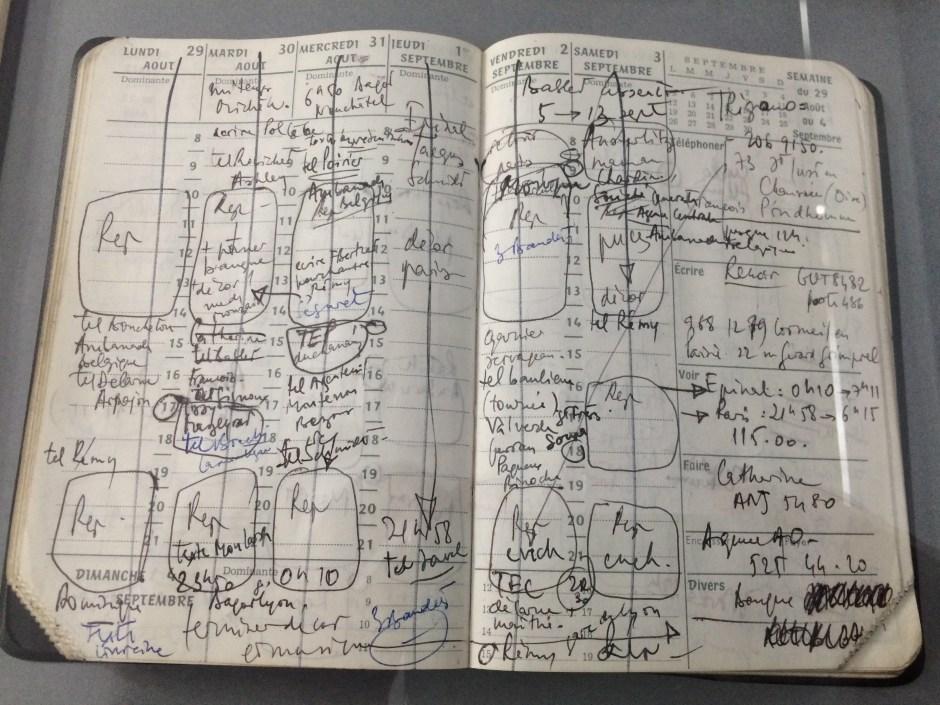 Agenda de Patrice Chéreau (photo © Diacritik)